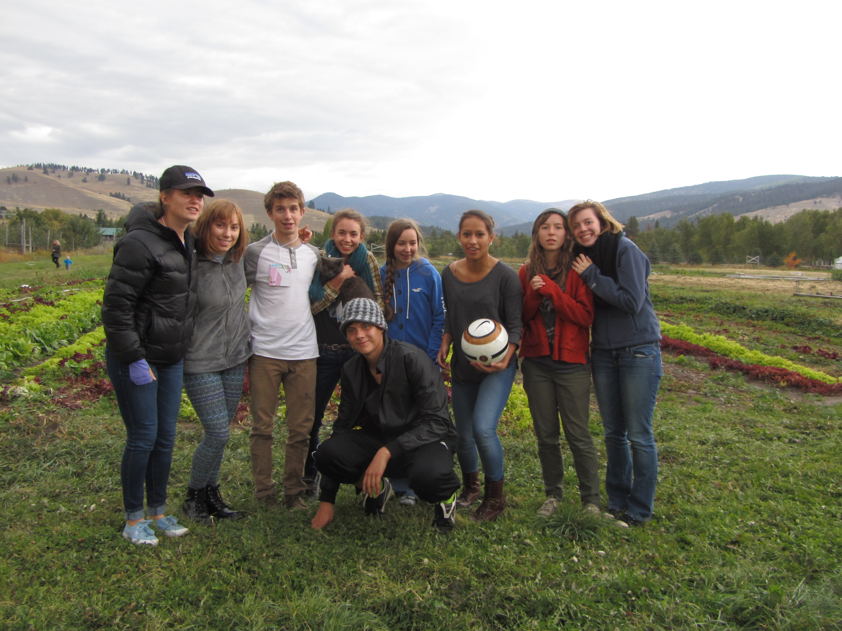 Whitefish High School students at the 2013 Growing Leaders Youth Summit PEAS Farm dinner