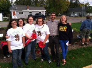 Environmental Club at Flathead HS with NCAT's Jeremy Drake and FoodCorps service member Jessica Manly