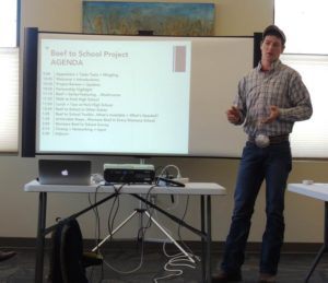 Jeremy Plummer from Lower Valley Processing speaks about selling to schools.