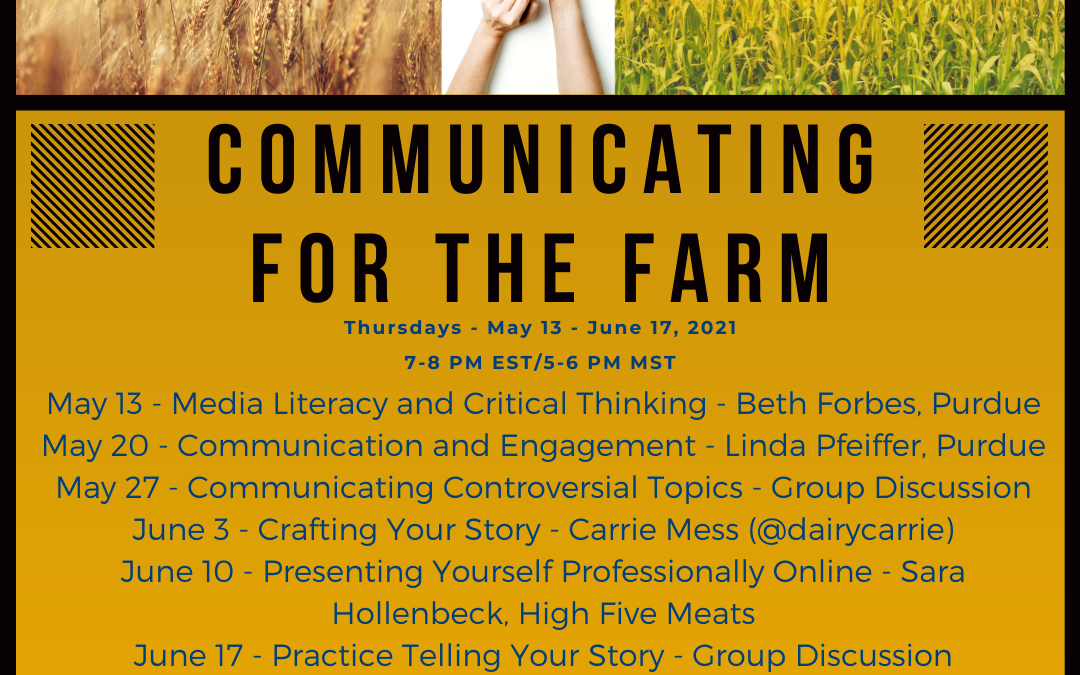 Communicating For the Farm Webinar Series